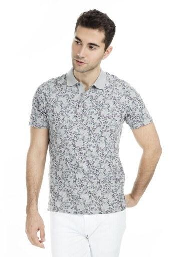 Jack & Jones Premium Jprcanton Bla Polo Yaka Erkek T Shirt 12149743 GRİ