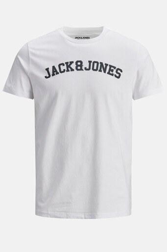 Jack & Jones Rahat Kesim Bisiklet Yaka % 100 Pamuk Originals Erkek T Shirt 12186317 BEYAZ