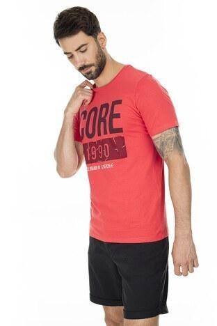 Jack & Jones Slim Fit Core Jcobooster Erkek T Shirt 12178384 KIRMIZI
