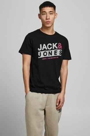 Jack & Jones - Jack & Jones Slim Fit Core Jcoliquid Erkek T Shirt 12191971 SİYAH