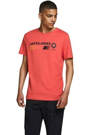 Jack & Jones Slim Fit Core Jcopony Erkek T Shirt 12174367 KIRMIZI