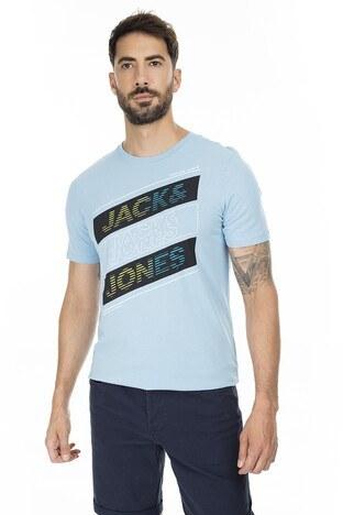 Jack & Jones - Jack & Jones Slim Fit Core Jcosoul Erkek T Shirt 12174368 MAVİ