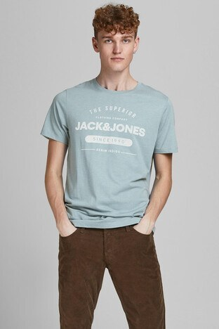 Jack & Jones - Jack & Jones Slim Fit Essentials Jjejeans Erkek T Shirt 12177533 AÇIK MAVİ