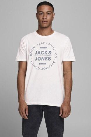 Jack & Jones - Jack & Jones Slim Fit Essentials Jjejeans Erkek T Shirt 12177533 EKRU