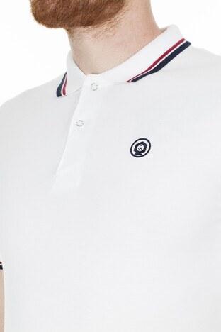 Jack & Jones Slim Fit Essentials Jjenoah T Shirt Erkek Polo 12165254 BEYAZ