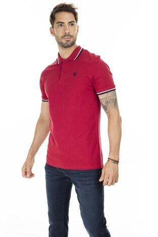 Jack & Jones Slim Fit Essentials Jjenoah T Shirt Erkek Polo 12165254 KIRMIZI