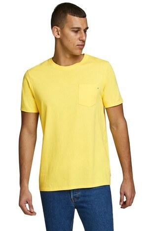 Jack & Jones - Jack & Jones Slim Fit Essentials Jjepocket Erkek T Shirt 12136714 SARI