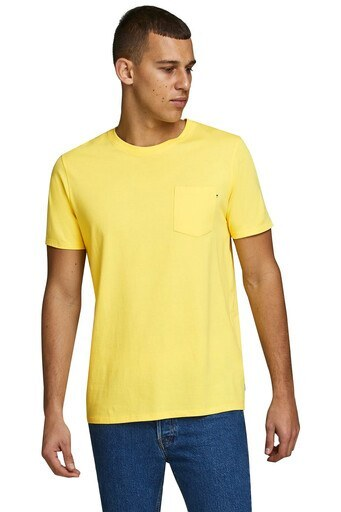 Jack & Jones Slim Fit Essentials Jjepocket Erkek T Shirt 12136714 SARI