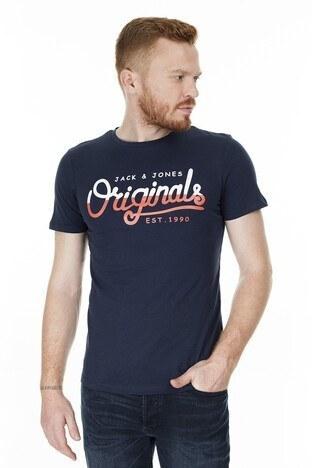 Jack & Jones Slim Fit Originals Jortone Erkek T Shirt 12179417 LACİVERT