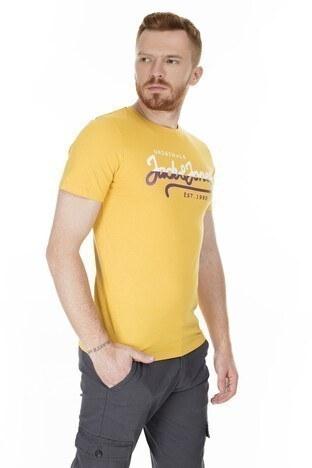 Jack & Jones Slim Fit Originals Jortone Erkek T Shirt 12179417 SARI