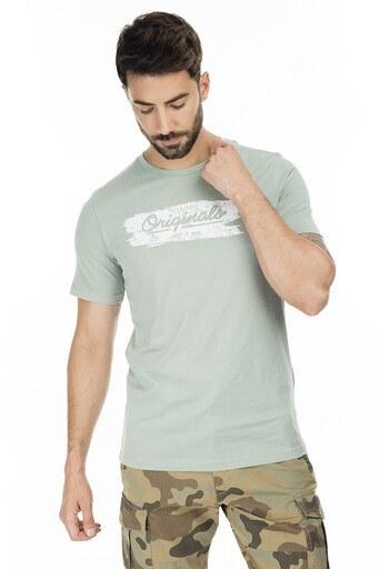 Jack & Jones Slim Fit Originals Jortorino Erkek T Shirt 12172049 AÇIK YEŞİL
