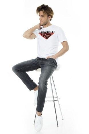 Jack&Jones Core Jcobooster Erkek T Shirt 12152862 BEYAZ-KIRMIZI