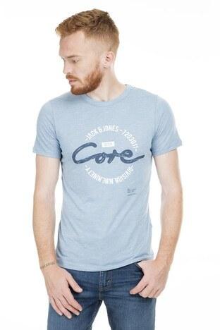 Jack&Jones Core Jcobrush Erkek T Shirt 12154300 AÇIK MAVİ