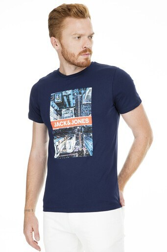 Jack&Jones Core Jcocolor Erkek T Shirt 12168808 LACİVERT