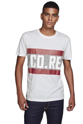 JACK&JONES CORE JCOCONTROL TEE SS CREW NECK T SHIR Erkek T Shirt 12143125 KREM