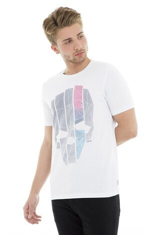 Jack&Jones Core Jcocup Tee Ss Crew Neck Erkek T Shirt 12148557 BEYAZ