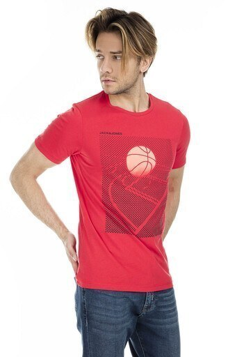 Jack&Jones Core Jcofield Erkek T Shirt 12154442 KIRMIZI