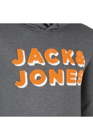 JACK&JONES CORE JCOMAT HOOD Erkek Sweat 12146583 KOYU GRİ