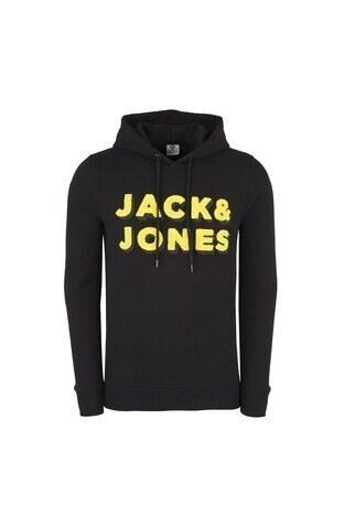 JACK&JONES CORE JCOMAT HOOD Erkek Sweat 12146583 SİYAH