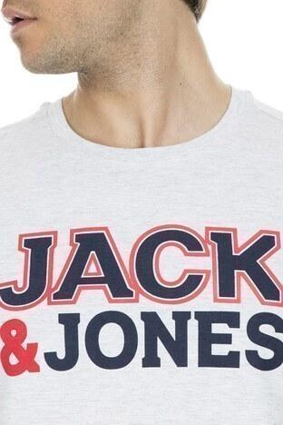 Jack&Jones Core Jconine Erkek T Shirt 12152225 AÇIK GRİ