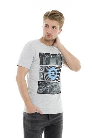 Jack&Jones Core Jcopaul Tee Ss Crew Neck Whs T Shi Erkek T Shirt 12153522 AÇIK GRİ