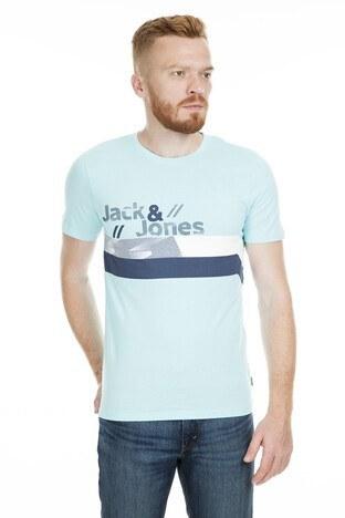 Jack & Jones - Jack&Jones Core Jcostairs Erkek T Shirt 12152308 AQUA