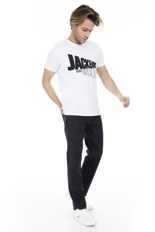 Jack&Jones Core Jcostar Erkek T Shirt 12161626 BEYAZ-SİYAH