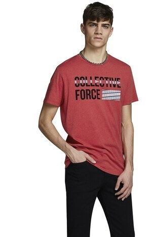 Jack & Jones - Jack&Jones Core Jcostar Erkek T Shirt 12161628 KIRMIZI