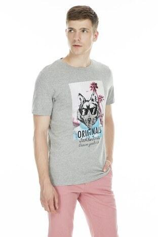 Jack & Jones - Jack&Jones Originals Joraminboy Erkek T Shirt 12157859 AÇIK GRİ