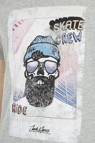 Jack&Jones Originals Jorbelboy Erkek T Shirt 12157863 AÇIK GRİ