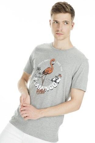Jack&Jones Originals Jordonut Erkek T Shirt 12155599 AÇIK GRİ
