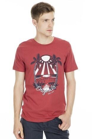 Jack&Jones Originals Jordonut Erkek T Shirt 12155599 KIRMIZI