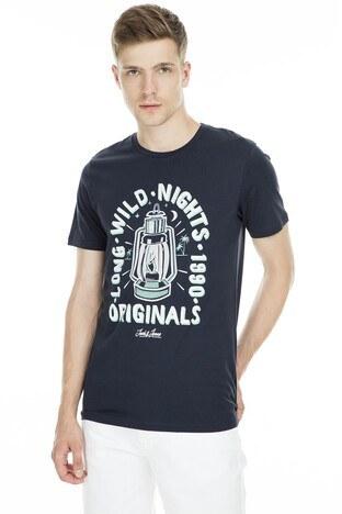 Jack & Jones - Jack&Jones Originals Jordonut Erkek T Shirt 12155599 LACİVERT