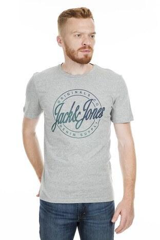 Jack&Jones Originals Jorflakes Big Erkek T Shirt 12158574 AÇIK GRİ