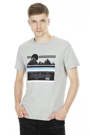 Jack&Jones Originals Jornew Landers Erkek T Shirt 12165314 AÇIK GRİ