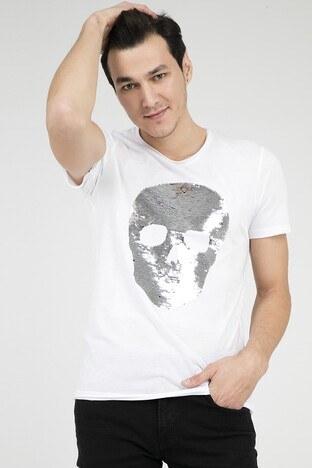 Jack & Jones - JACK&JONES ORIGINALS JORSHINE TEE SS CREW NECK T SHIRT Erkek T Shirt 12145885 BEYAZ