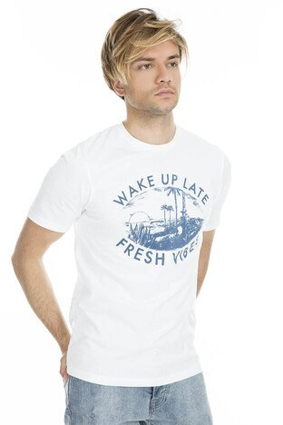 Jack & Jones - Jack&Jones Originals Jorsunbaked Erkek T Shirt 12153600 BEYAZ