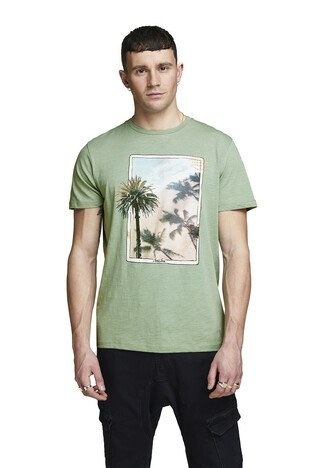 Jack&Jones Originals Jortraveller Erkek T Shirt 12153602 YEŞİL