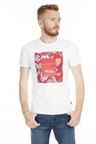 Jack&Jones Originals Jortropicana Erkek T Shirt 12152706 EKRU