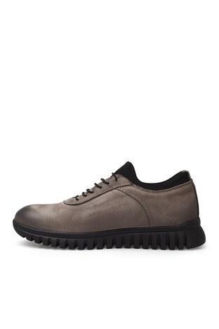 James & Franco Deri Erkek Ayakkabı 5404685T GRİ-SİYAH