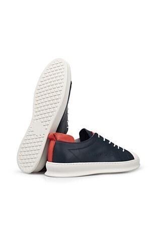 James & Franco Hakiki Deri Erkek Ayakkabı 5405580 LACİVERT-BEYAZ