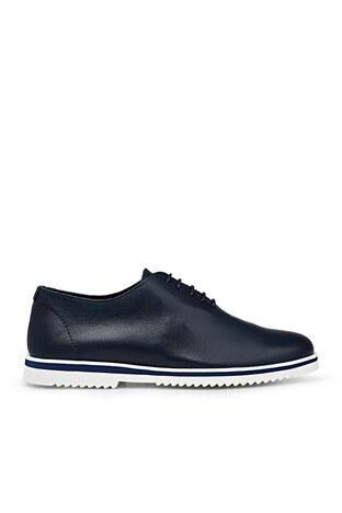 James & Franco Hakiki Deri Erkek Ayakkabı 5405692 LACİVERT