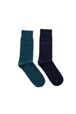 John Frank 2 Pack Erkek Çorap CTNJF2LS19W05 LACİVERT-YEŞİL