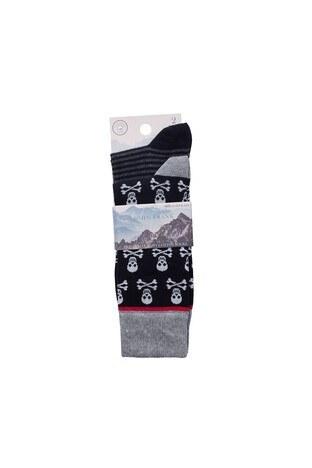 John Frank 2 Pack Erkek Çorap CTNJF2LS19W07 SİYAH-GRİ