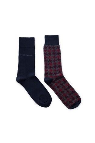 John Frank 2 Pack Erkek Çorap CTNJF2LS19W13 LACİVERT