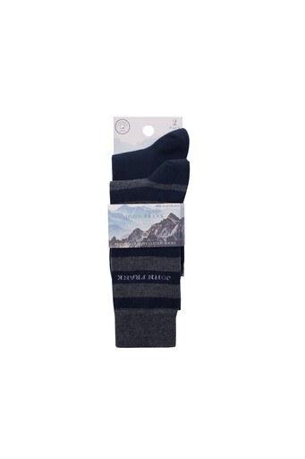 John Frank 2 Pack Erkek Çorap CTNJF2LS19W14 LACİVERT