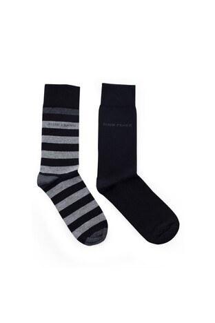 John Frank 2 Pack Erkek Çorap CTNJF2LS19W14 SİYAH