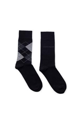 John Frank 2 Pack Erkek Çorap CTNJF2LS19W20 SİYAH