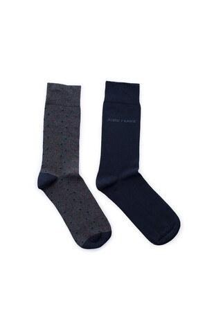 John Frank 2 Pack Erkek Çorap CTNJF2LS19W26 LACİVERT-GRİ