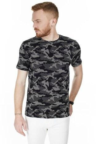 John Frank - John Frank Erkek T Shirt JFTMC12-CAMO STAR ÇOK RENKLİ